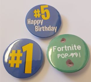 PACK OF 3 Fortnite Game Badges Ages 5 to 21